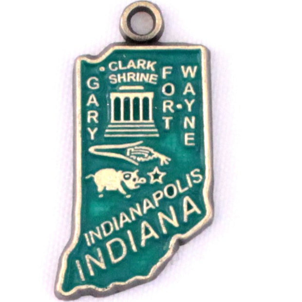 Indiana State Charm Bracelet, Necklace, or Charm Only 1