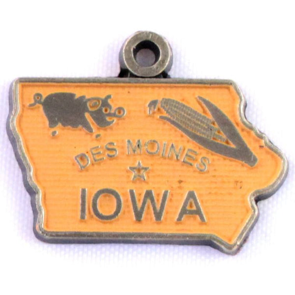 Iowa State Charm Bracelet, Necklace, or Charm Only