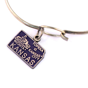 Kansas State Charm Bracelet, Necklace, or Charm Only