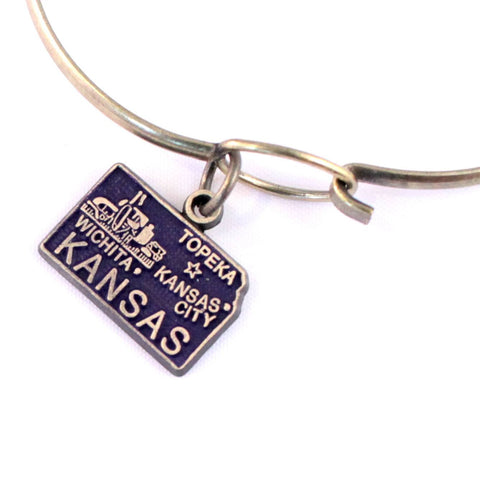 Kansas State Charm Bracelet or Necklace