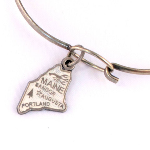 Maine State Charm Bracelet, Necklace, or Charm Only