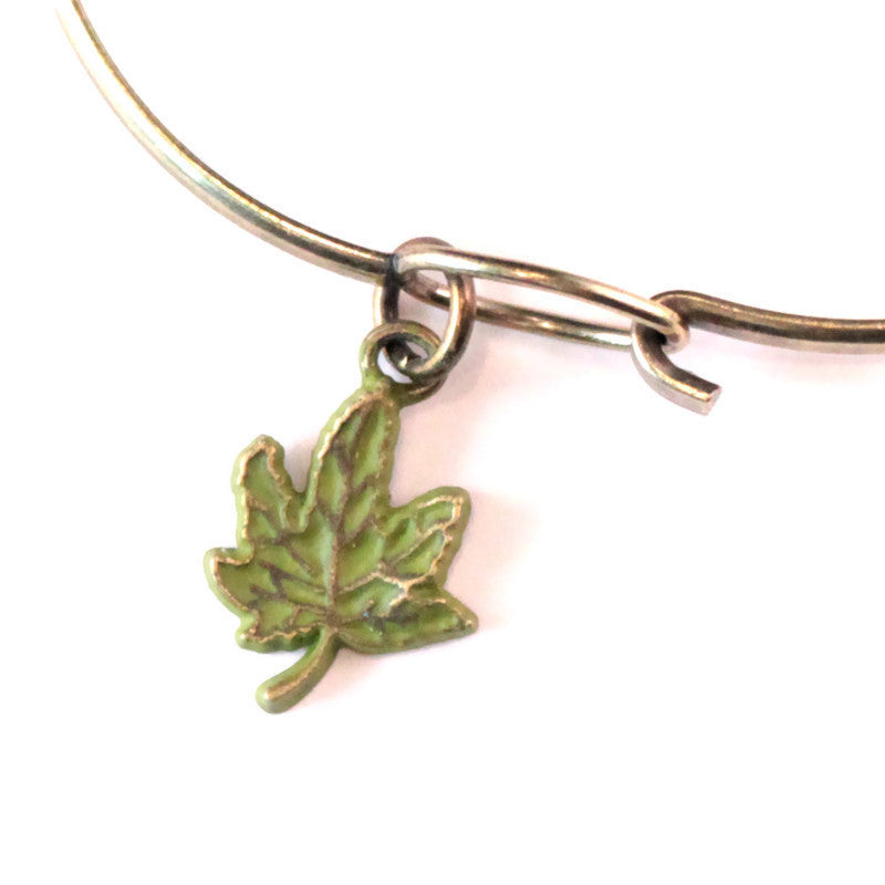 Maple Leaf Charm Bracelet or Necklace