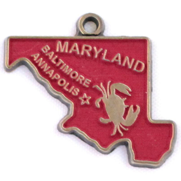 Maryland State Charm Bracelet, Necklace, or Charm Only