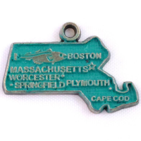 Massachusetts State Charm Bracelet or Necklace