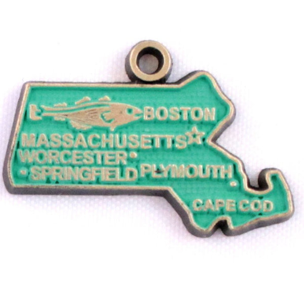 Massachusetts State Charm Bracelet, Necklace, or Charm Only