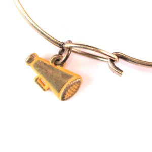 Megaphone Charm Bracelet or Necklace