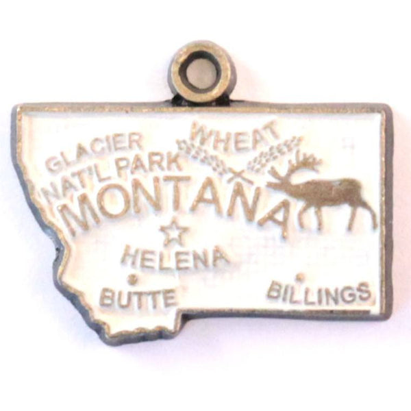 Montana State Charm Bracelet, Necklace, or Charm Only