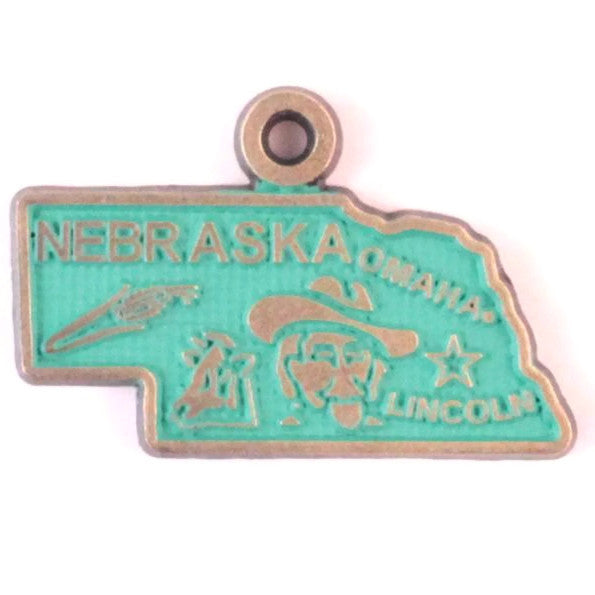 Nebraska State Charm Bracelet, Necklace, or Charm only
