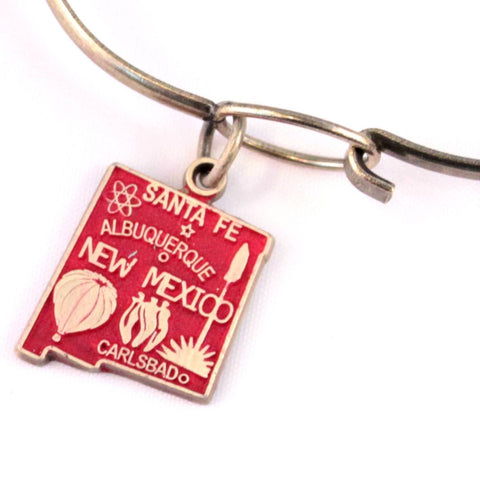 New Mexico State Charm Bracelet, Necklace, or Charm only