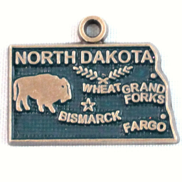 North Dakota State Charm Bracelet, Necklace, or Charm only