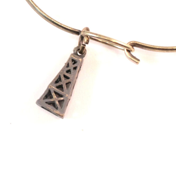 Oil Derrick Charm Bracelet or Necklace