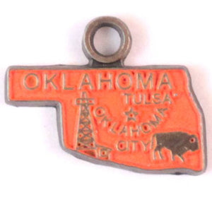 Oklahoma State Charm Bracelet, Necklace, or Charm only