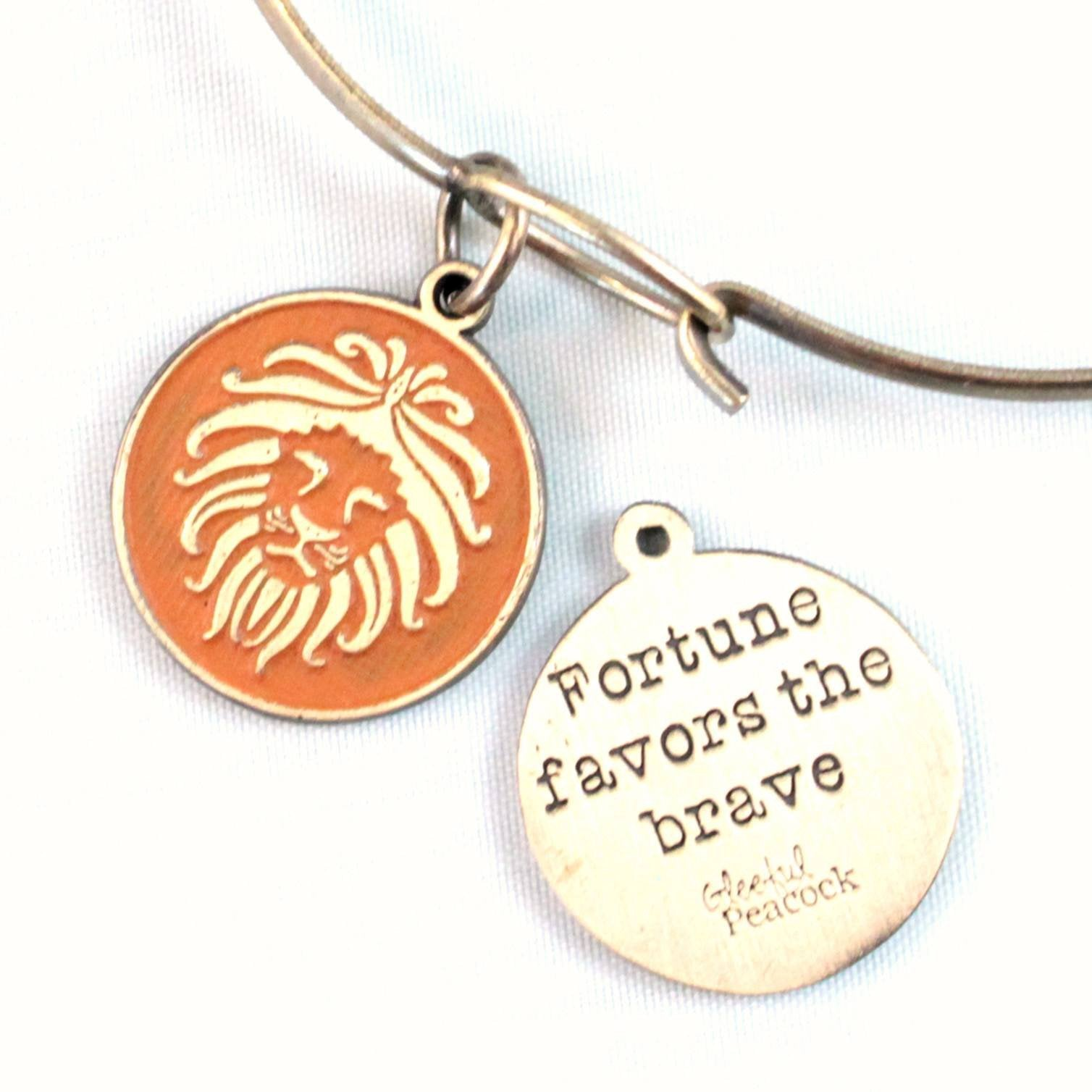 Brave Token Charm Bracelet, Necklace, or Charm Only