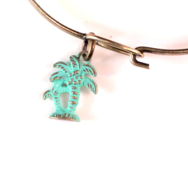 Palm Tree Charm Bracelet or Necklace