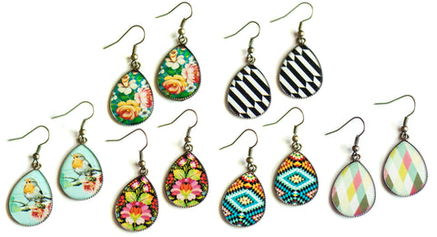 Pattern Drops Earrings