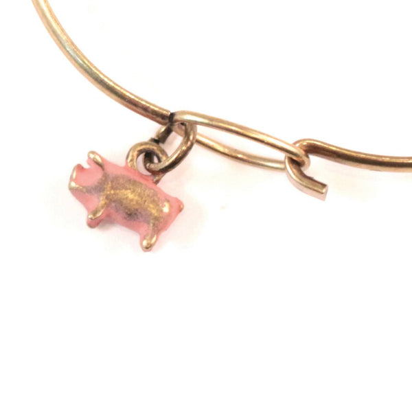 Pig Charm Bracelet or Necklace