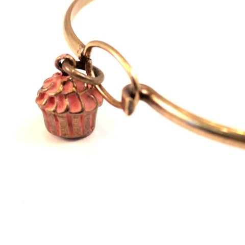 Cupcake Charm Bracelet, Necklace, or Charm Only