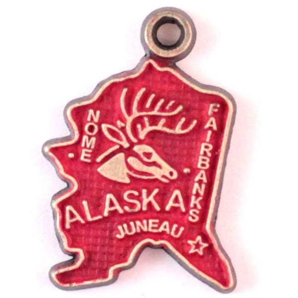 Alaska State Charm Bracelet, Necklace, or Charm Only