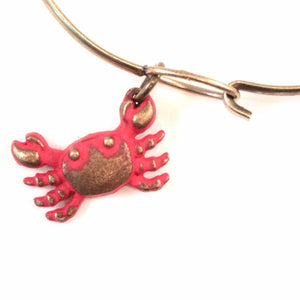Crab Charm Bracelet, Necklace, or Charm Only