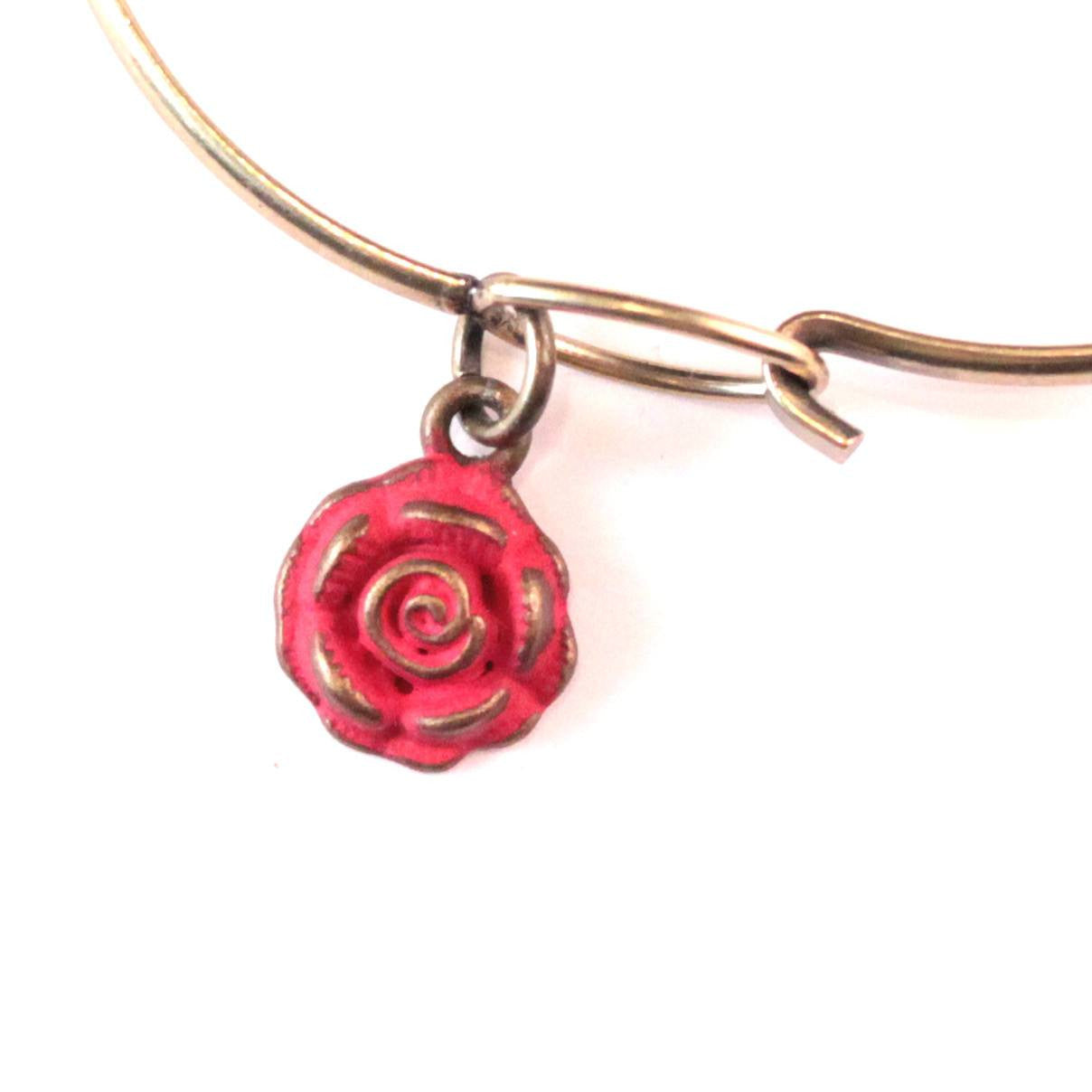 Rose Charm Bracelet or Necklace