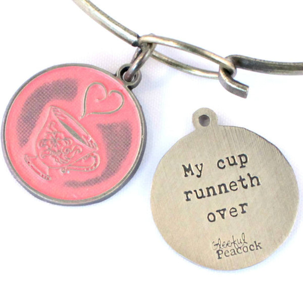 Runneth Over Token Charm Bracelet or Necklace