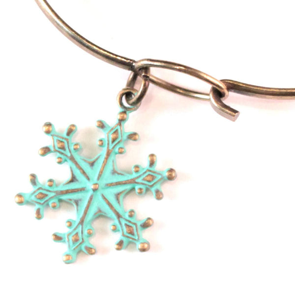 Snowflake Charm Bracelet or Necklace