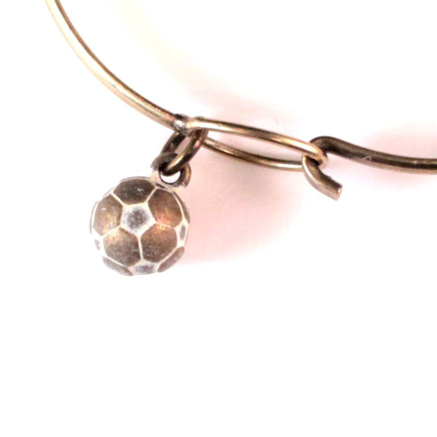Soccer Ball Charm Bracelet or Necklace