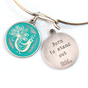Stand Out Token Charm Bracelet or Necklace
