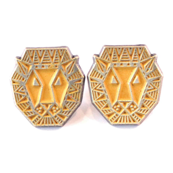 Lion Stud Earrings