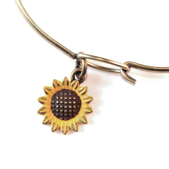 Sunflower Charm Bracelet or Necklace