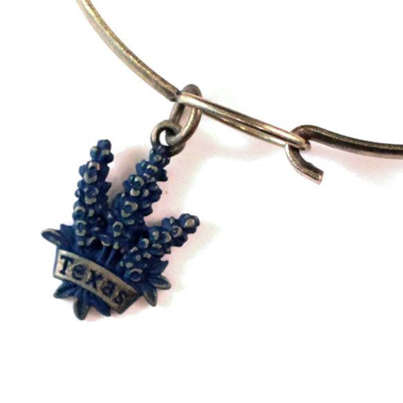 Texas Blue Bonnet Charm