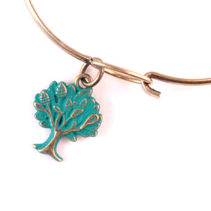 Tree Charm Bracelet or Necklace