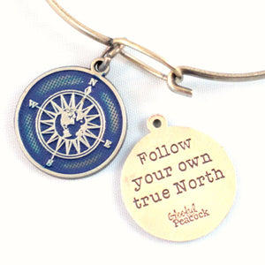 True North Token Charm Bracelet or Necklace