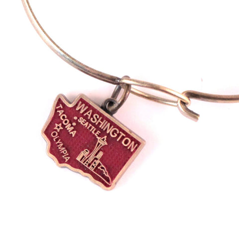 Washington State Love Charm Bracelet, Necklace, or Charm only