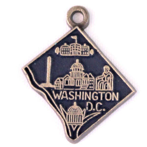 Washington D.C. State Love Charm Bracelet, Necklace, or Charm only