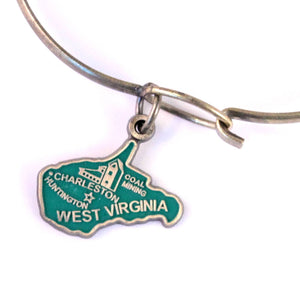 West Virginia State Love Charm Bracelet or Necklace