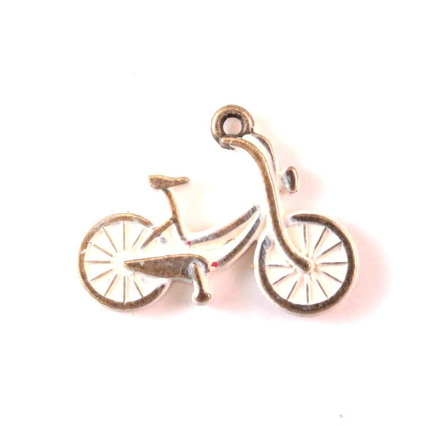 Bicycle Charm Bracelet, Necklace, or Charm Only