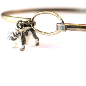 Bulldog Charm Bracelet, Necklace, or Charm Only