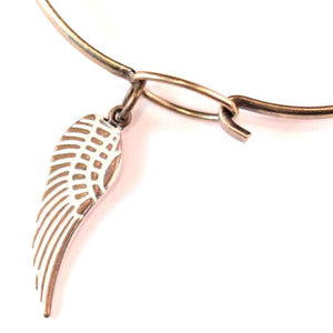 Wing Charm Bracelet or Necklace