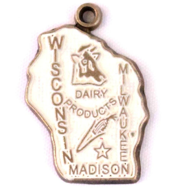 Wisconsin State Love Charm Bracelet, Necklace, or Charm only