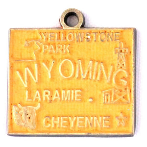 Wyoming State Love Charm Bracelet, Necklace, or Charm only