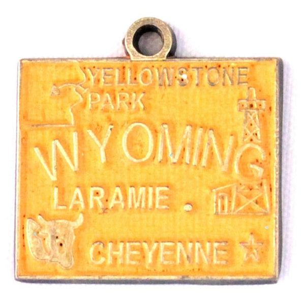 Wyoming State Love Charm