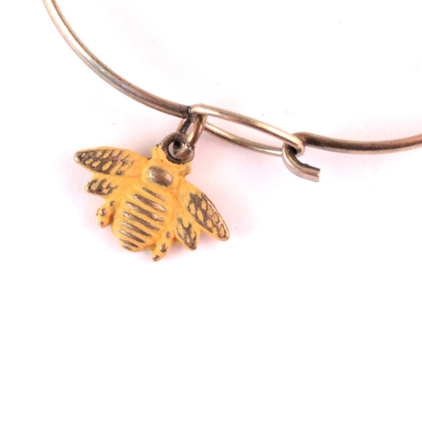 Bee Charm Bracelet, Necklace, or Charm Only
