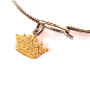 Crown Charm Bracelet, Necklace, or Charm Only