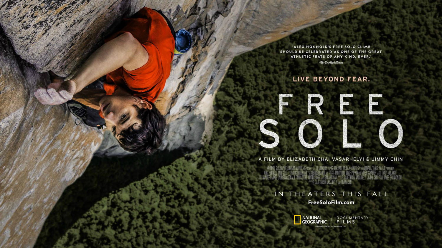 Free Solo Movie Review: Jimmy Chin, Alex Honnold, and National Geographic Produce One of the Best Documentaries to Ever Hit Theaters
