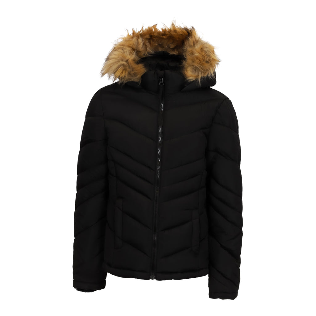 SO Girls' Sherpa Lined Puffer Jacket