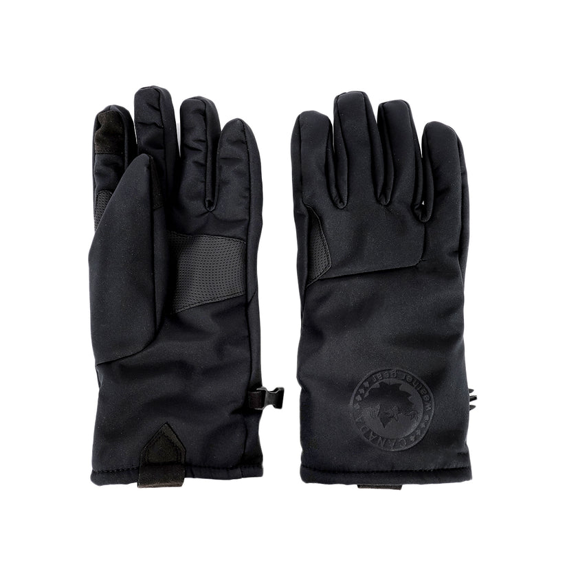 Canada Weather Gear Men's Softshell Gloves + Canada Men's Beanie