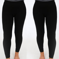 3-Pack Womens Full Length Stretch Leggings