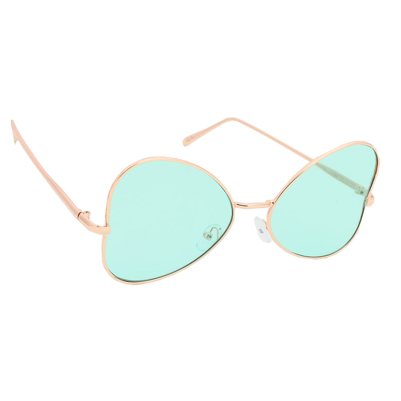 Women's Butterfly Shape Sunglasses Green/Gold