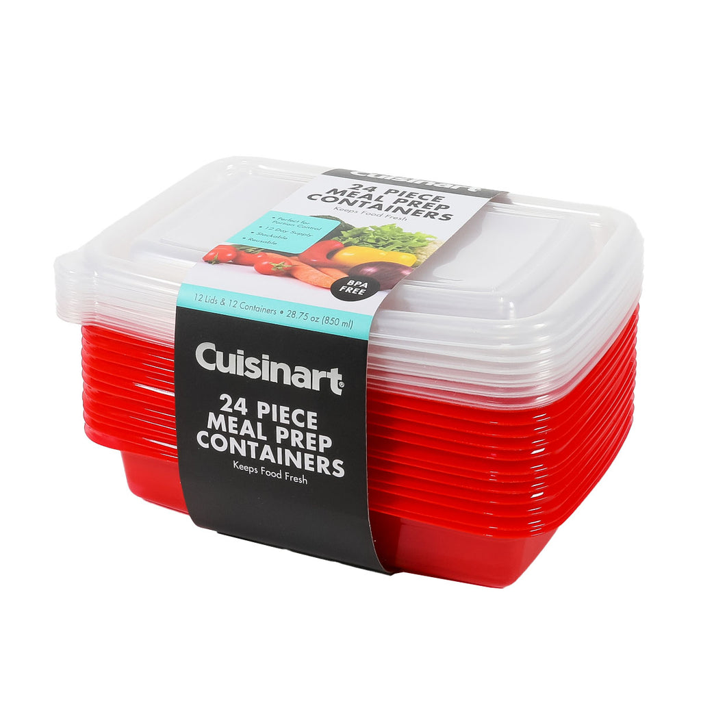24-Pack Cuisinart Meal Prep 1 Section Containers